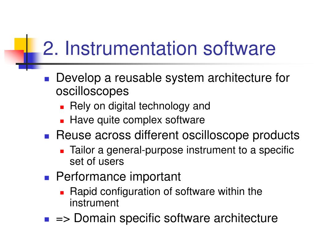 2. Instrumentation software
