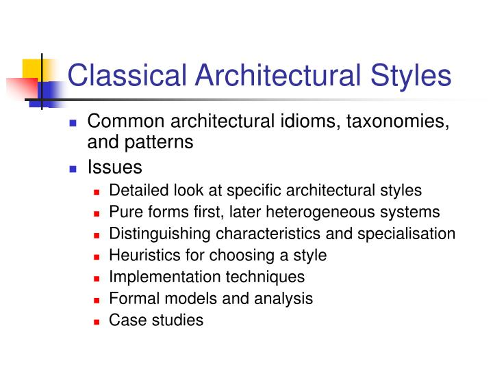 Classical architectural styles2