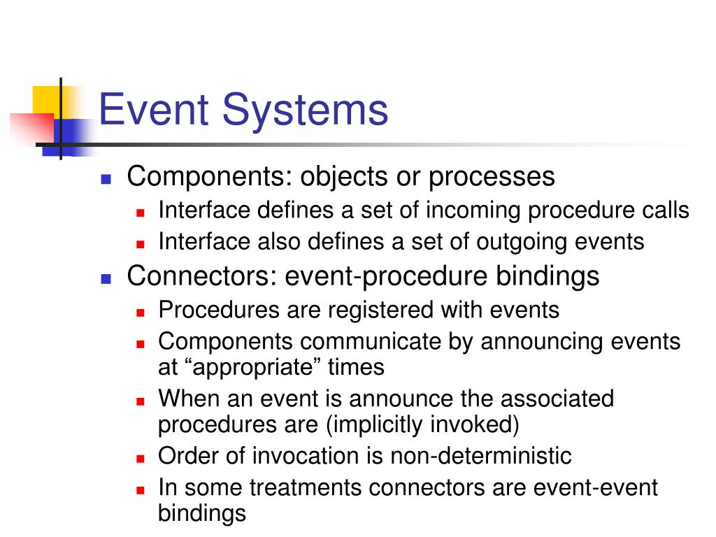 Event Systems
