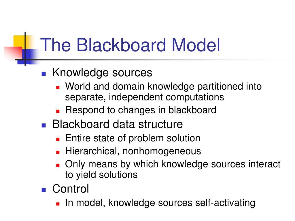 The Blackboard Model