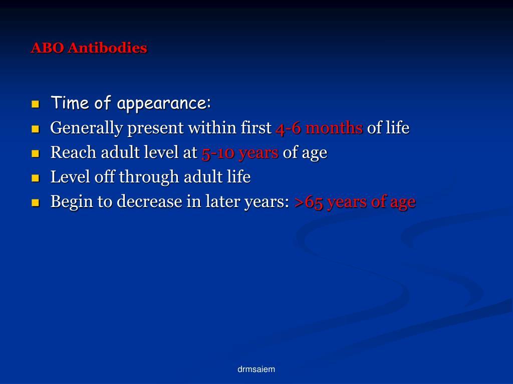 ABO Antibodies