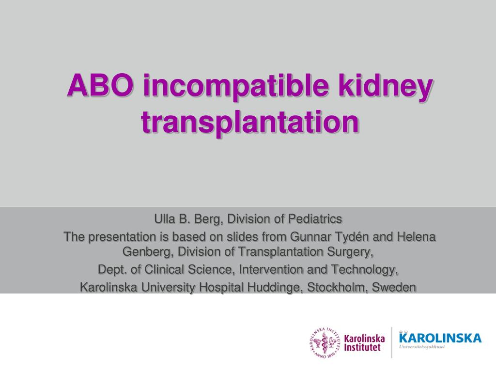 abo incompatible kidney transplantation l.