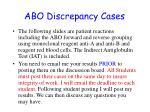 abo discrepancy cases
