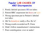 popular lab causes of abo discrepancies