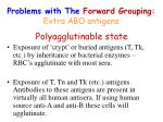 problems with the forward grouping extra abo antigens