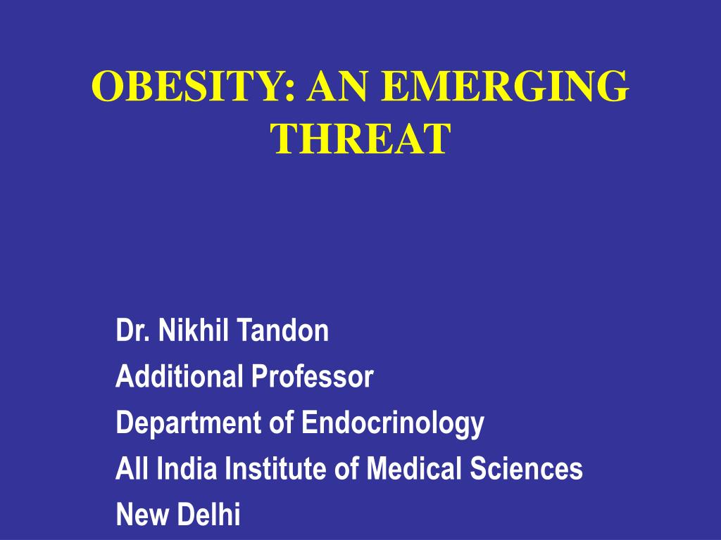 obesity an emerging threat l.