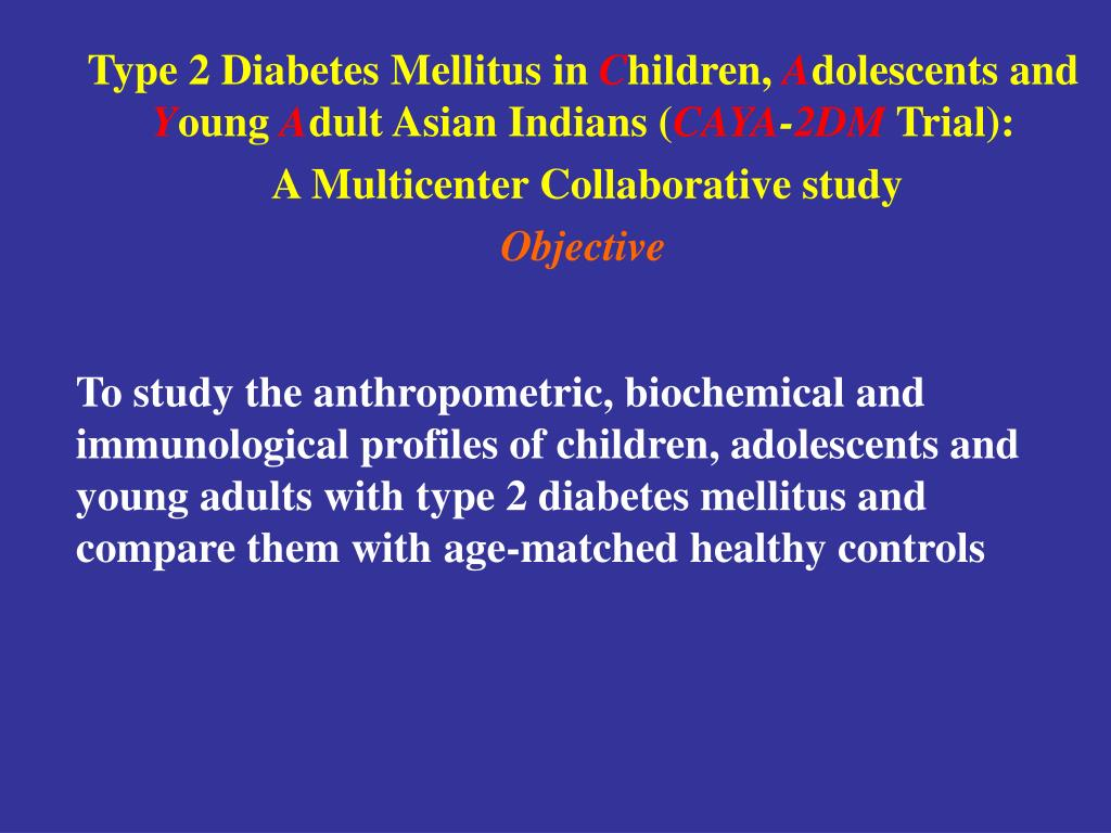 To study the anthropometric, biochemical and immunological profiles of children, adolescents and young adults with type 2 diabetes mellitus and compare them with age-matched healthy controls