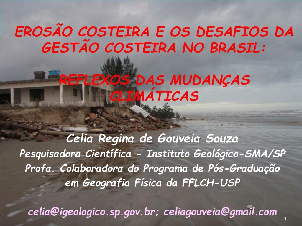 eros o costeira e os desafios da gest o costeira no brasil reflexos das mudan as clim ticas l.