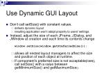 use dynamic gui layout
