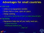 advantages for small countries