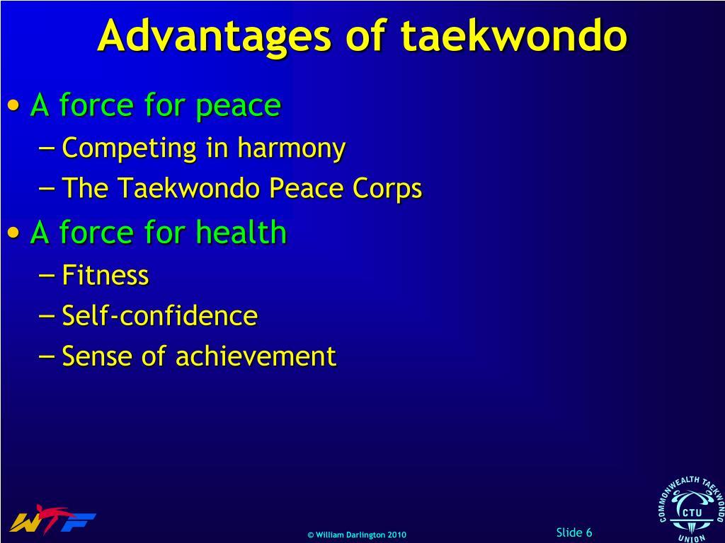 Advantages of taekwondo