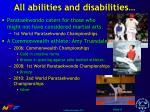 all abilities and disabilities