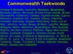 commonwealth taekwondo
