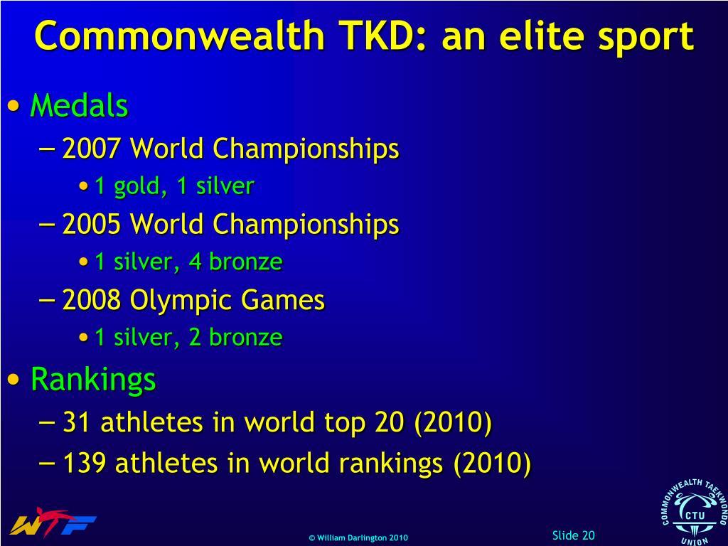 Commonwealth TKD: an elite sport