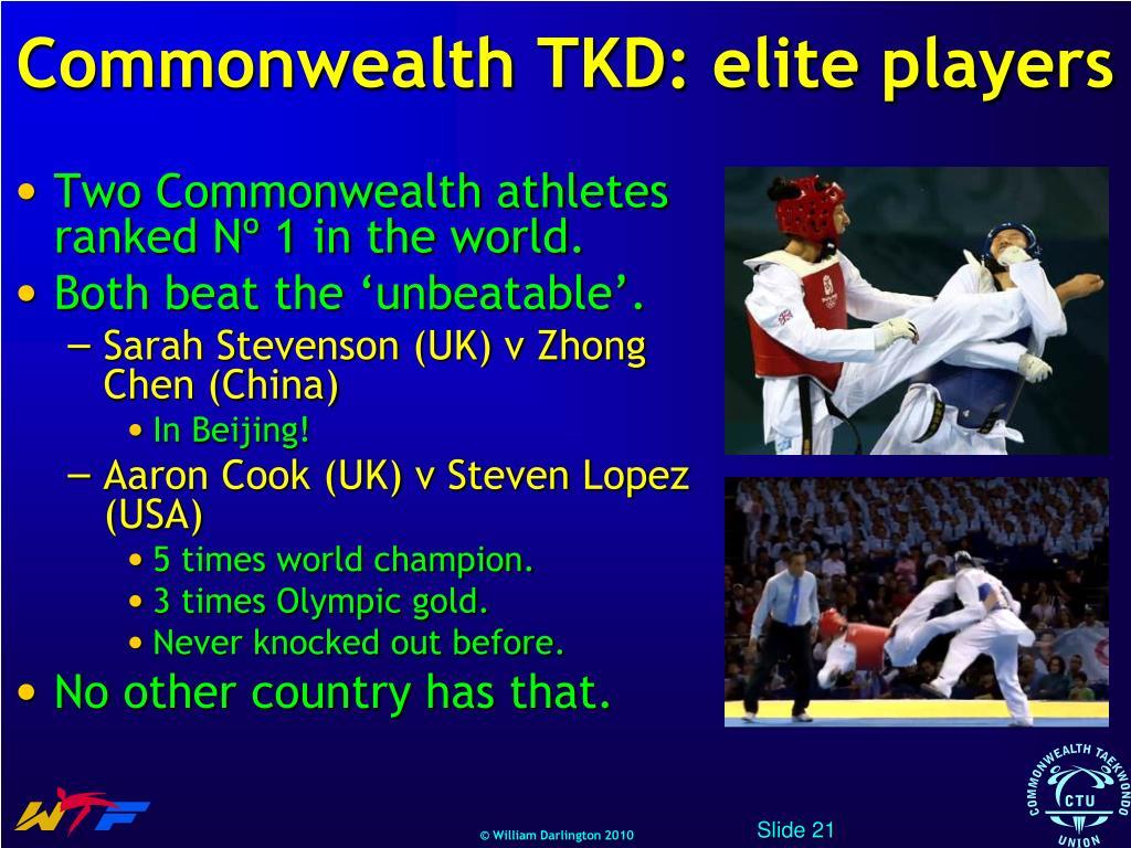 Commonwealth TKD: elite players
