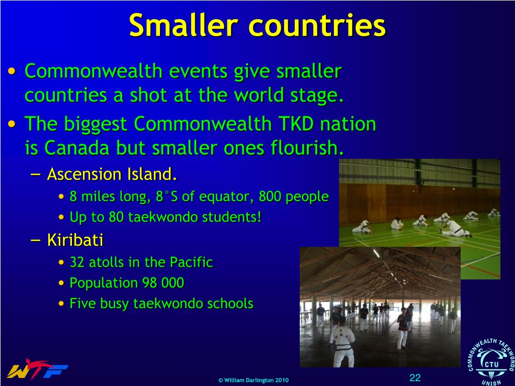 Smaller countries