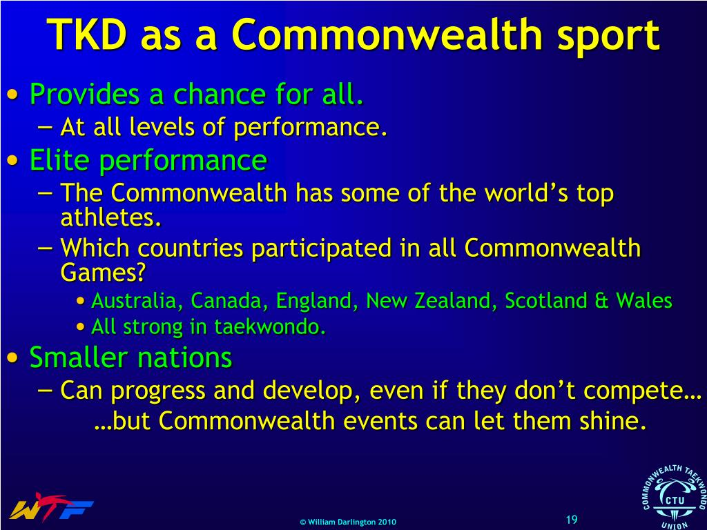 TKD as a Commonwealth sport