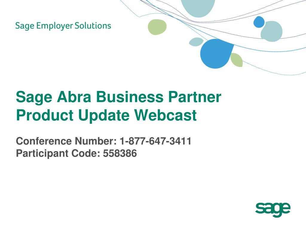 sage abra business partner product update webcast l.