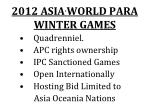 2012 asia world para winter games