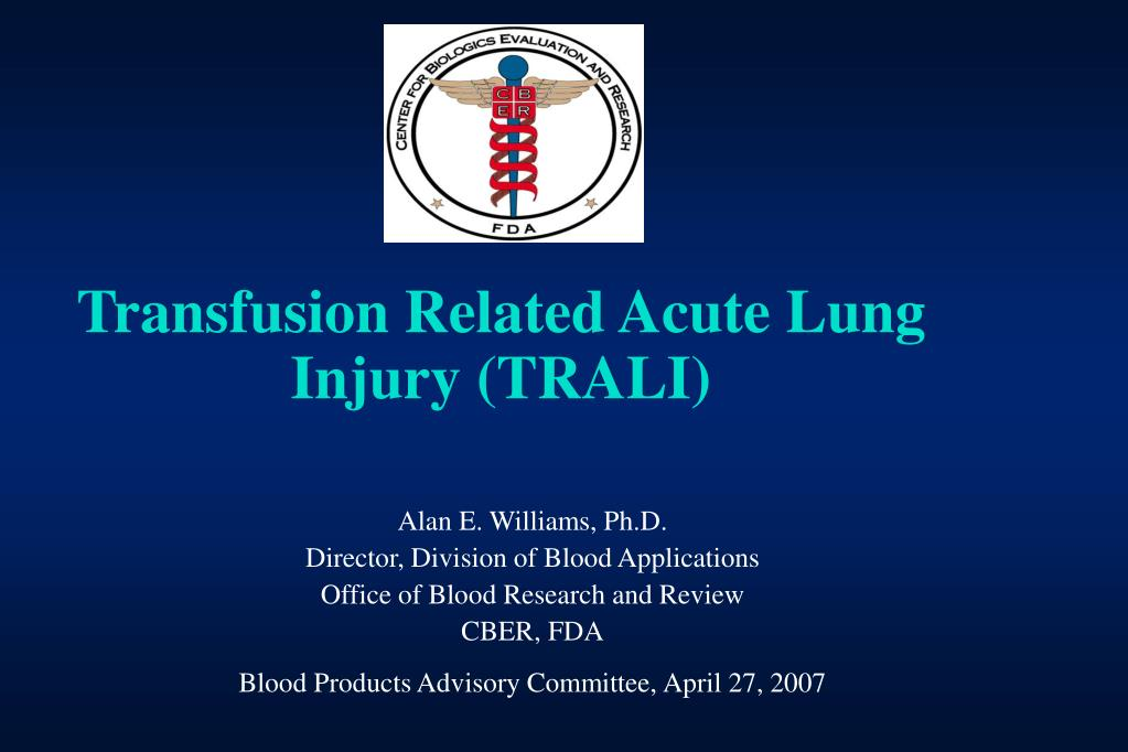 transfusion related acute lung injury trali l.