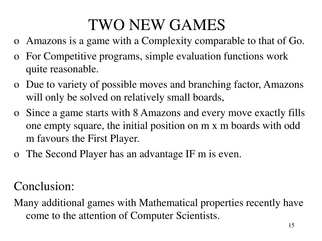 TWO NEW GAMES