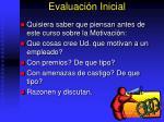 evaluaci n inicial