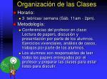 organizaci n de las clases