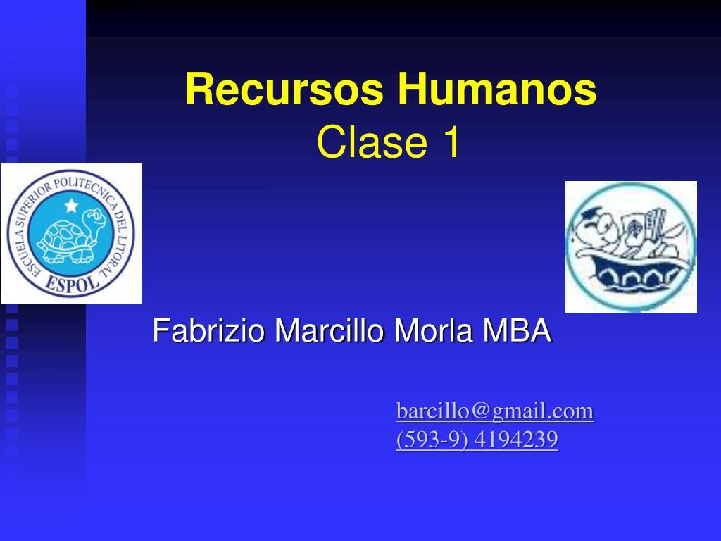 recursos humanos clase 1 l.