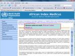 african index medicus