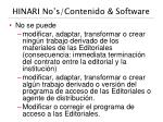 hinari no s contenido software