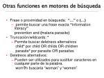otras funciones en motores de b squeda