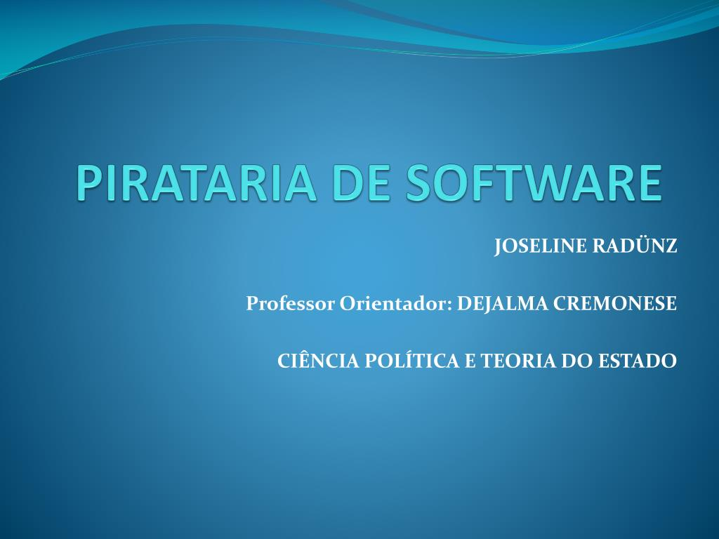 pirataria de software l.