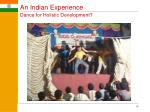 an indian experience dance for holistic development