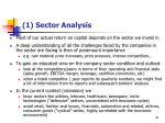 1 sector analysis