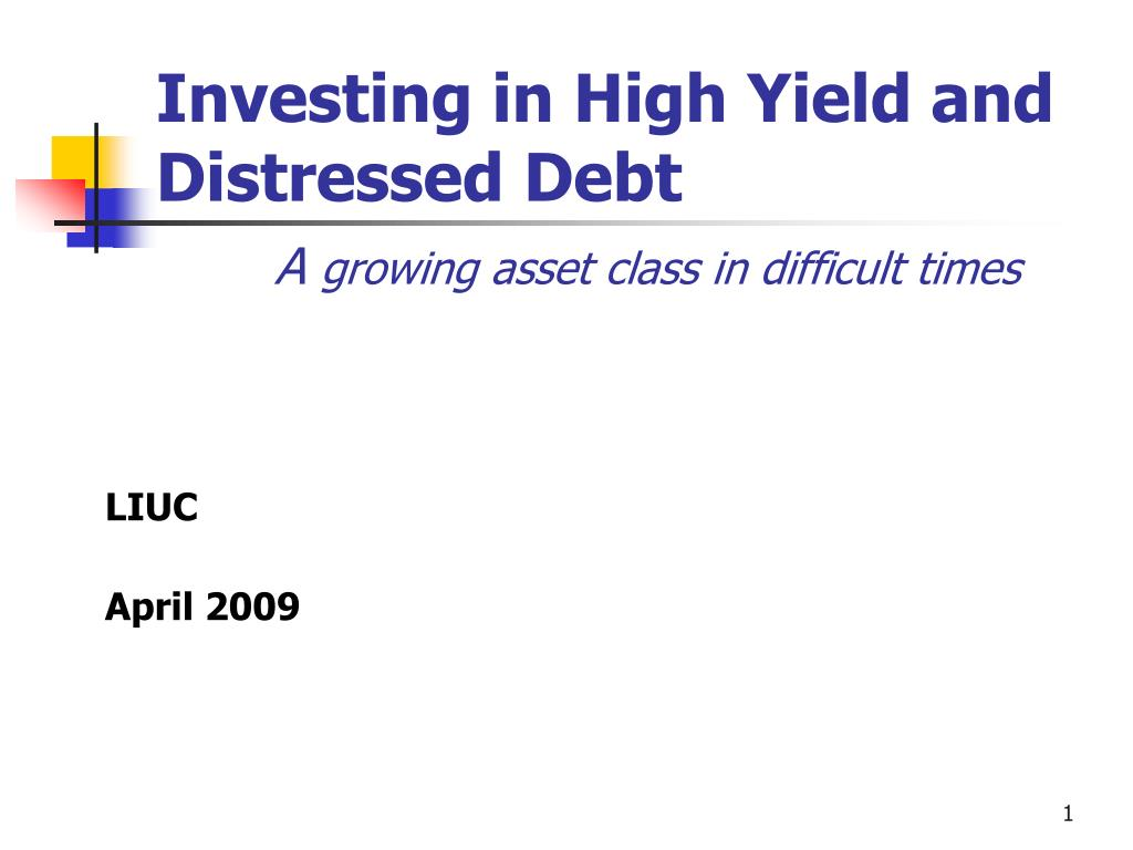 a growing asset class in difficult times l.