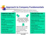 approach to company fundamentals