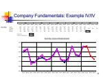 company fundamentals example iv iv