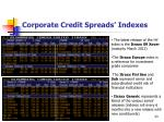 corporate credit spreads indexes