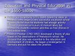 education and physical education in the 1600 1800s59