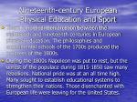 nineteenth century european physical education and sport