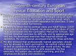 nineteenth century european physical education and sport65