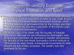 nineteenth century european physical education and sport66
