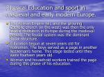 physical education and sport in medieval and early modern europe