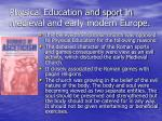 physical education and sport in medieval and early modern europe31