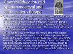 physical education and sport in medieval and early modern europe34