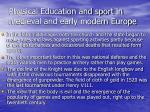 physical education and sport in medieval and early modern europe37