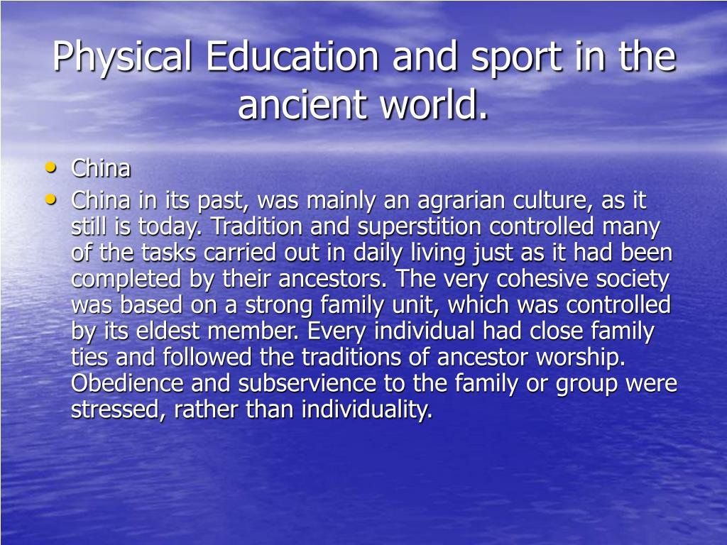 physical education and sport in the ancient world l.