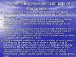 the athletic games and contests of the greeks