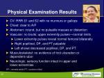 physical examination results