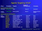 agents targeting vegf